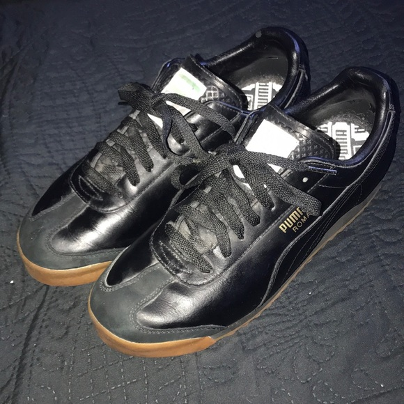 New vintage PUMA ROMA black sneakers trainers